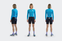 Women's Long Sleeve Blue Sprinkle Skinsuit