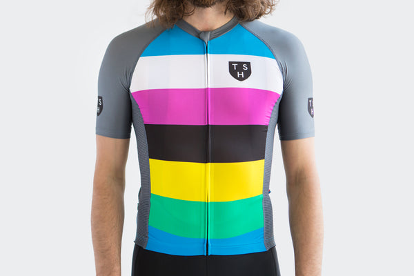 Men's Grey Stealth Race Fit Jersey
