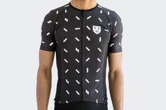 Men's Race Fit Black Sprinkles Jersey