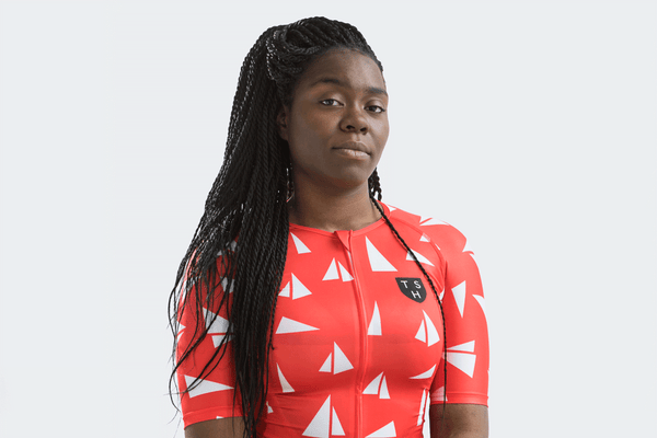 Women's Red Paper Boats Jersey