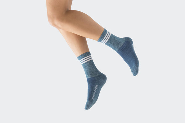 Merino Adventure Socks (Lake Michigan Blue)