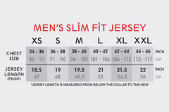 Men's SLIM FIT Black White + Blue Jersey