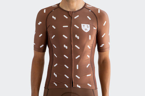 Men's Race Fit Brown Sprinkles