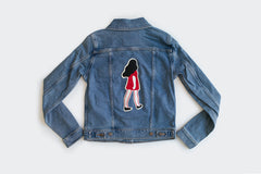 Women's Marching Woman Jean Jacket (V2)