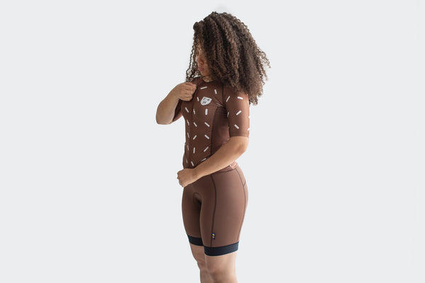 Women's All Road Brown Pro Shorts