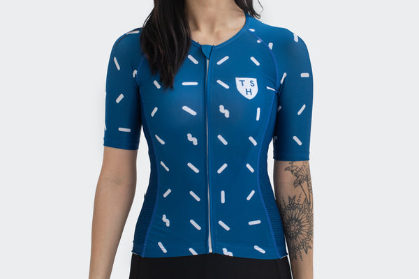 Women's Parisian Blue Sprinkle Jersey