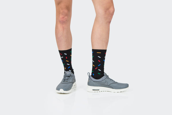 Resort Black Sprinkles Socks