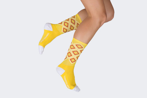 Yellow Argyle Socks