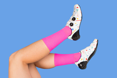 Electric Pink Team Adventure Socks