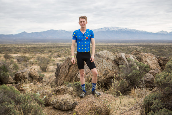Men's Blue Sprinkles lightweight Skinsuit