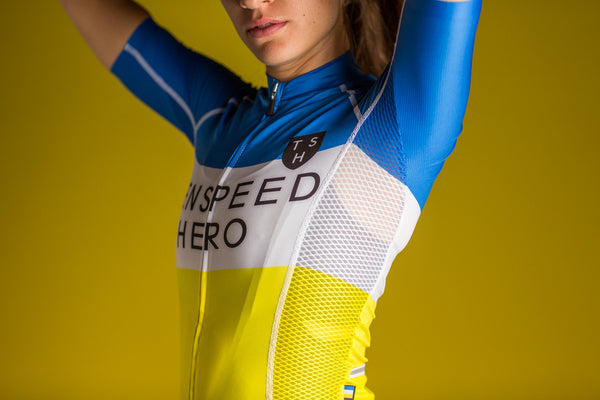 Women's RACE FIT Blue + Yellow Jersey