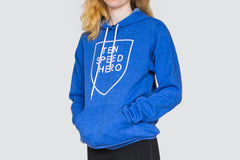 Tenspeed Hero Unisex Blue Fleece Hoodie