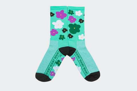 Resort Celeste Flower Socks