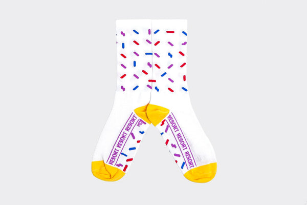 White Sprinkles Socks