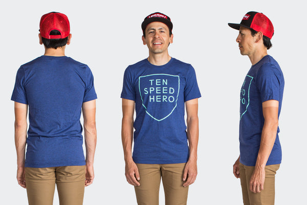 Tenspeed Hero Blue Shield Shirt