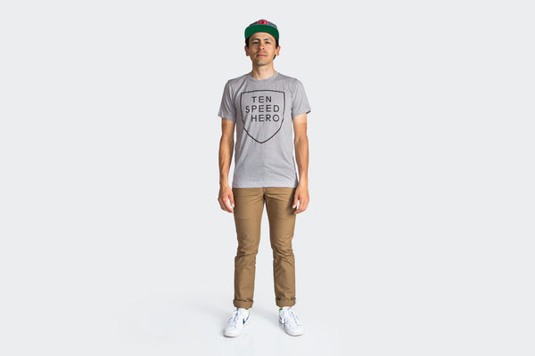 Tenspeed Hero Grey Shield T-Shirt