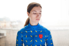 Women's Long Sleeve Blue Sprinkles Jersey