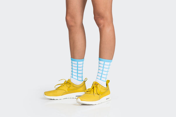 Amelia Strong // TSH Chilean Blue Grid Socks