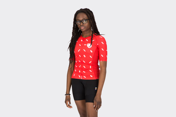 Women's Race Fit Red Sprinkles Jersey