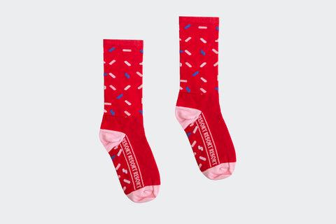 Red Sprinkle Socks (Factory Seconds)