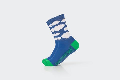 Blue Ribbed Cloud Socks