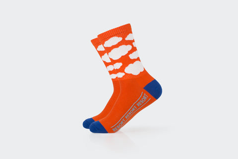 Orange Ribbed Cloud Socks
