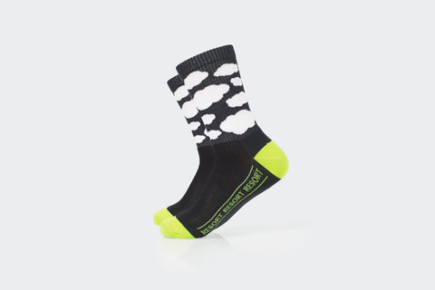 Deep Charcoal Ribbed Cloud Socks