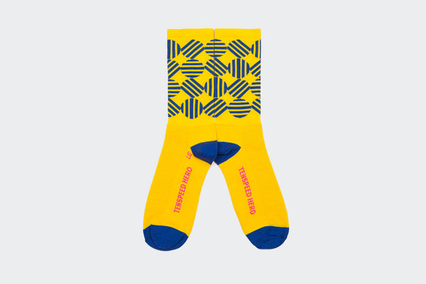 Yellow Broken Circle Socks