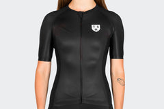 Women's Race Fit Black Jersey