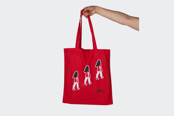 Amelia Strong Marching Woman Tote Bag
