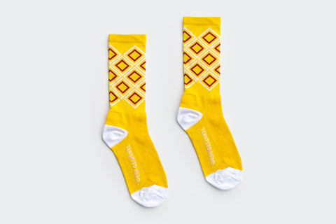 Yellow Argyle Socks (Factory Seconds)