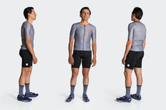 Men's Race Fit Solid Color Jersey - Steel