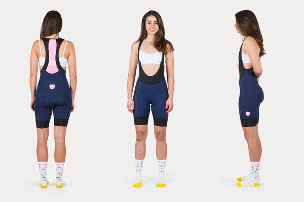 Women's Navy + Pink Pro Shorts