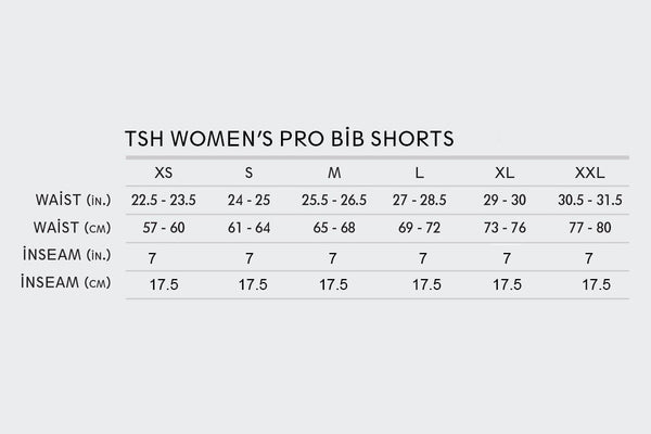 2019 Women's Pro Bib Shorts (Shorter Inseam)