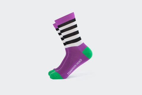 Purple Striped Sock Boiiiiii