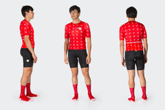 Men's Race Fit Red Sprinkles Jersey