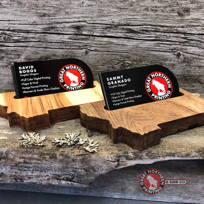 Solid Wood Business Card Holders