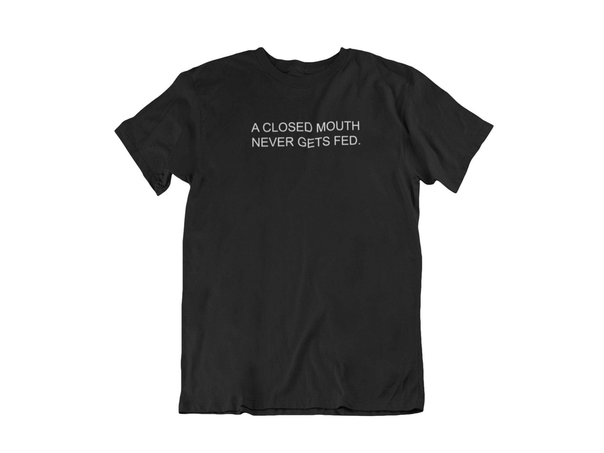 Closed Mouth Tee (Black)