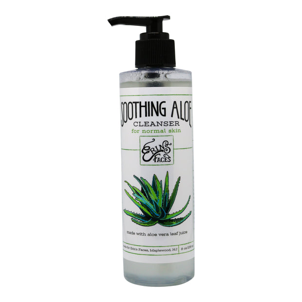 vegan soothing aloe cleanser in an 8oz bottle for hydration