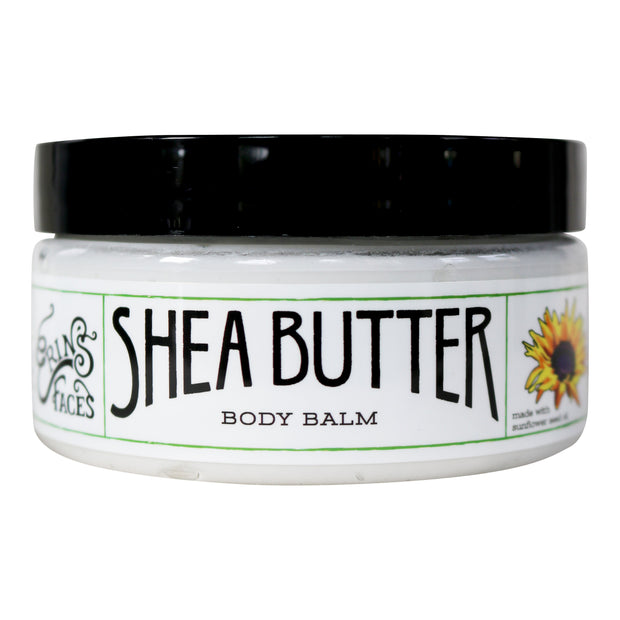 closed 4oz jar of vegan shea  butter body moisturizer