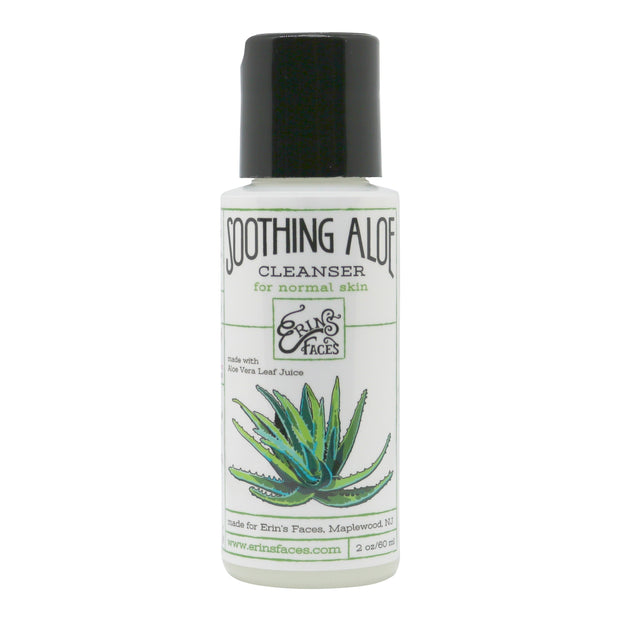 2oz bottle of soothing aloe cleanser for nourishing skin