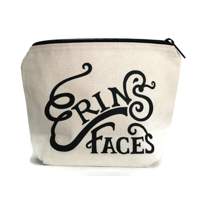 Erin's Faces Logo Makeup Bag