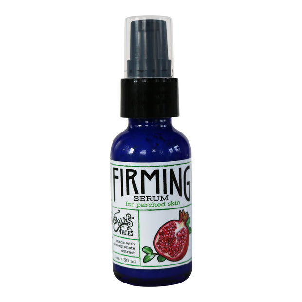 firming serum skincare product in a 1oz glass dropper
