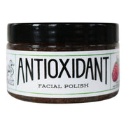 4 oz jar of gentle antioxidant face polish scrub wrapped in a white label
