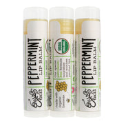 vegan skincare peppermint lip balm set of three