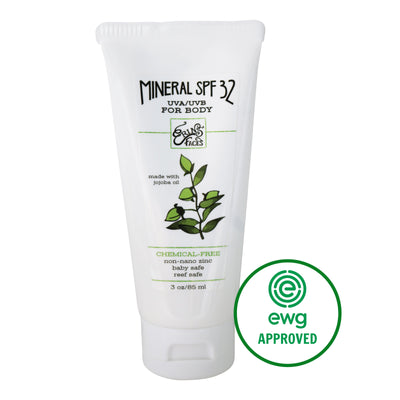 3oz tube of the mineral SPF 32 sunscreen for the body