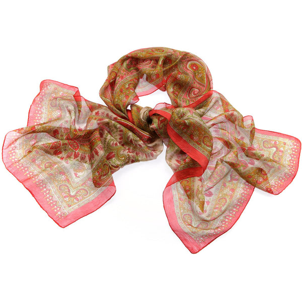 Block Print Silk Scarf|Varanasi|India