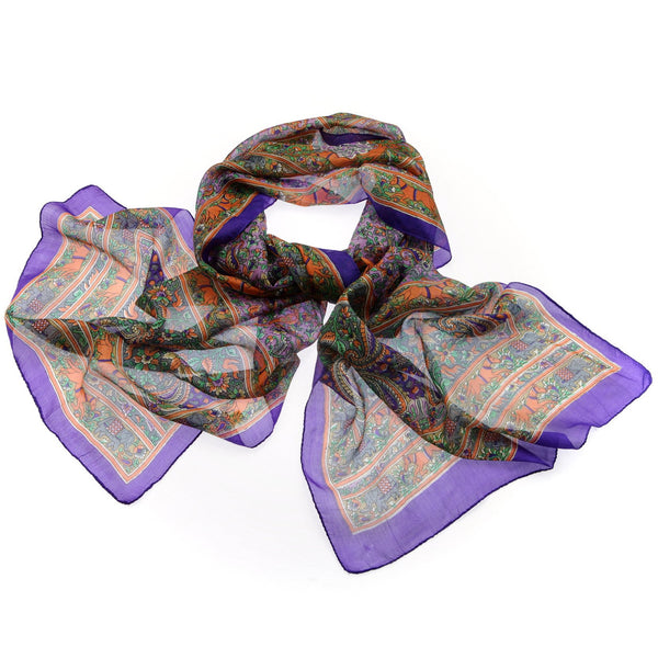 Printed Silk Scarf|Varanasi|India