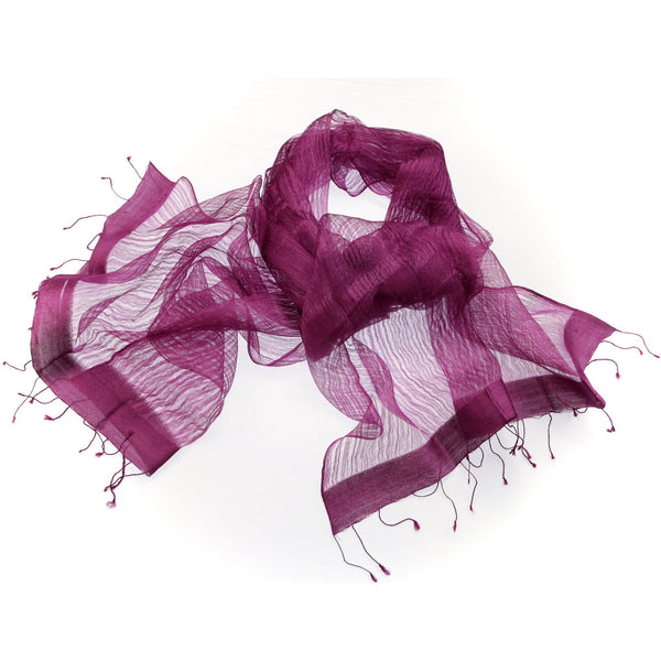 Sheer Silk Purple Scarf|Varanasi|India