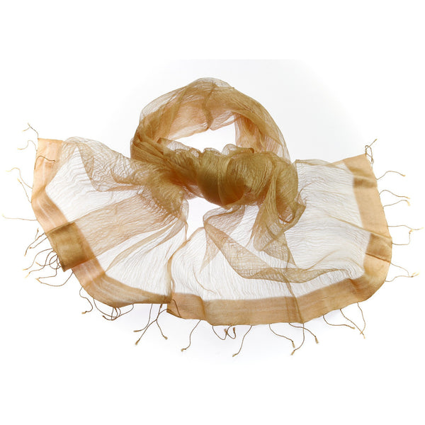 White Sheer Silk Scarf|Varanasi|India